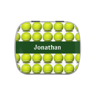Tennis Ball Design Party Favor Candy Container Candy Tin