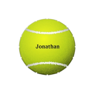 Tennis Ball Design Party Favor Candy Container