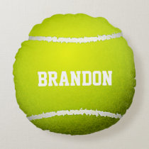 Tennis Ball Design Round Pillow