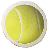 Tennis Ball Design Sugar Cookie