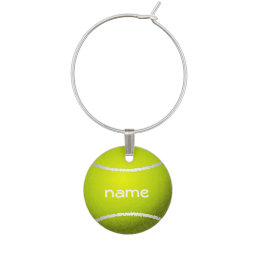 Tennis Ball Design Wine Charm