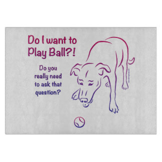 Tennis Ball Dog Cutting Board