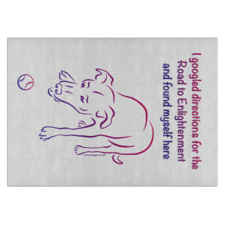 Tennis Ball Dog Road - Enlightenment Cutting Board