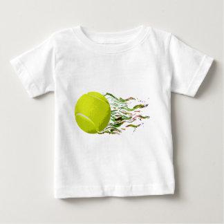 Tennis Ball Flames Artistic US Open Wimbleton Baby T-Shirt