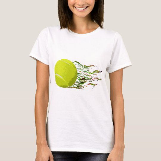 Tennis Ball Flames Artistic US Open Wimbleton T-Shirt