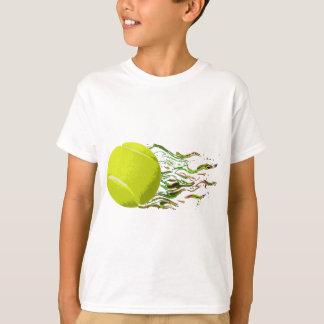 Tennis Ball Flames Artistic US Open Wimbleton T-Shirt