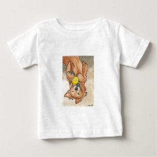Tennis Ball Fun Golden Retriever Dog Art Baby T-Shirt