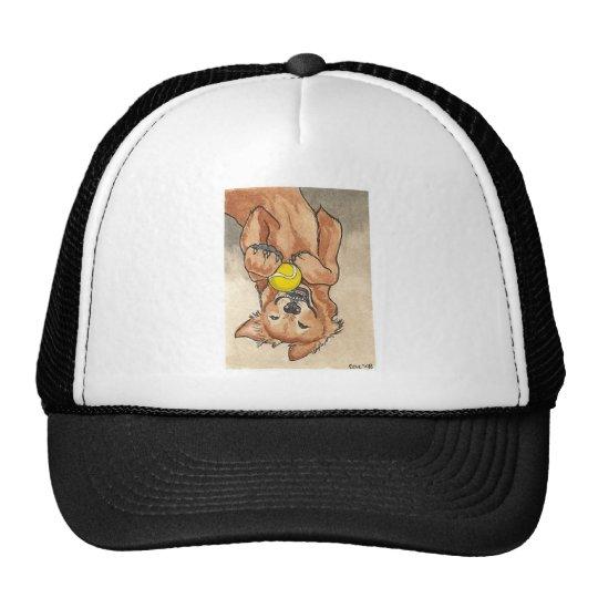 Tennis Ball Fun Golden Retriever Dog Art Trucker Hat