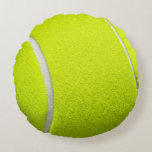 "Tennis Ball Funny Look Round Pillow<br><div class=""desc"">Decor your home in style with this &quot;Tennis Ball Funny Look&quot; Personalized Round Pillow. You can add your monogram,  name or text on this design. It&#39;s easy and fun.</div>"