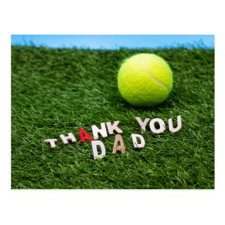 Tennis ball Happy Father's Day Thank you card