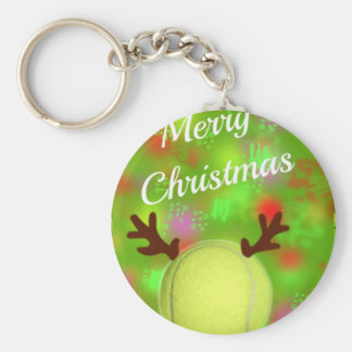 Tennis ball have horns in Holidays Keychain