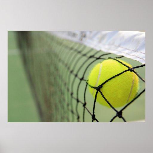 Tennis Ball Hitting Net Print