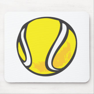 Tennis Ball in Hand-drawn Style Mouse Pad