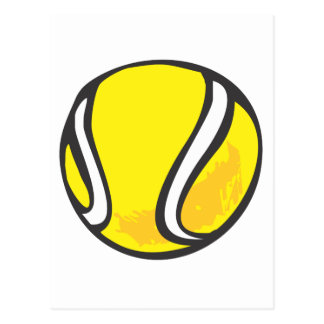 Tennis Ball in Hand-drawn Style Postcard