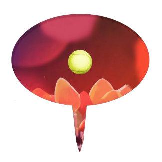 Tennis ball in Wild flower Cake Topper
