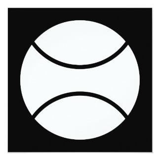 """tennis ball 5.25"""" square invitation card"""