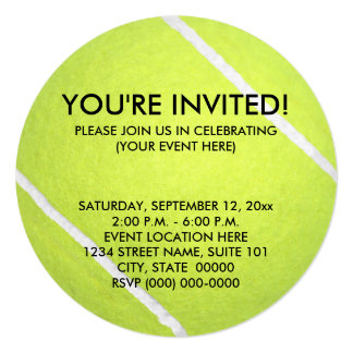 Tennis Ball Invitations