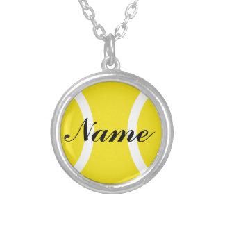 Tennis ball jewelry with personalized name