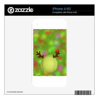 Tennis ball joys in holiday season iPhone 4 decal
