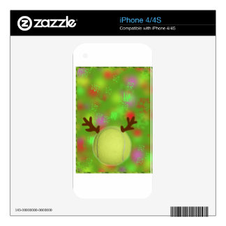 Tennis ball joys in holiday season skin for iPhone 4