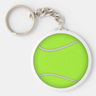 Tennis Ball: Basic Round Button Keychain