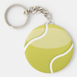 Tennis Ball Basic Round Button Keychain