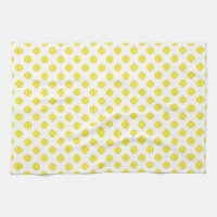 Tennis ball kitchen towel | Customizable color