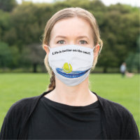Tennis ball Life  better on the court with racket Cloth Face Mask
