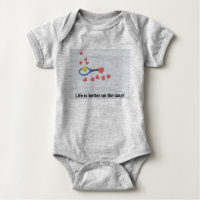 Tennis ball life is better on the court with love baby bodysuit