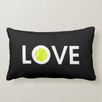 Tennis Ball LOVE Lumbar Pillow