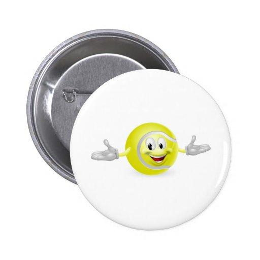 Tennis Ball Man Pinback Button