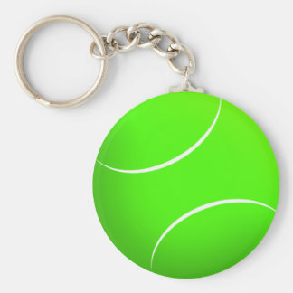 Tennis Ball Novelty - Customized Basic Round Button Keychain
