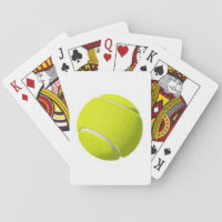 Tennis Ball on a Playing Card Deck