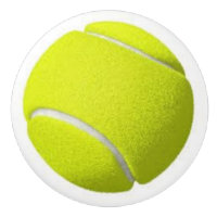 Tennis Ball on Ceramic Knobs and Pulls