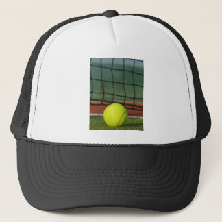 Tennis Ball On Court Trucker Hat