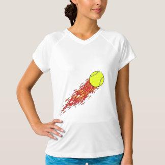 tennis ball on fire flames T-Shirt