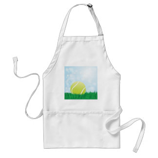 tennis ball on grass adult apron
