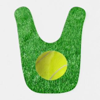 Tennis Ball On Grass Baby Bib