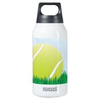 tennis ball on grass insulated water bottle