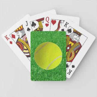 Tennis Ball On Grass Poker Deck