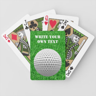 Tennis Ball On Lawn - Write Your Own Text Bicycle Playing Cards