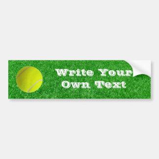 Tennis Ball On Lawn - Write Your Own Text Car Bumper Sticker