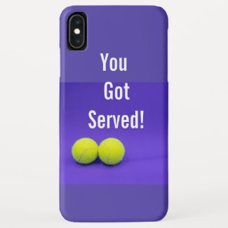 Tennis ball on purple background you got served Case-Mate iPhone case