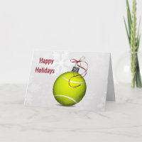 tennis ball ornament Holiday Greetings
