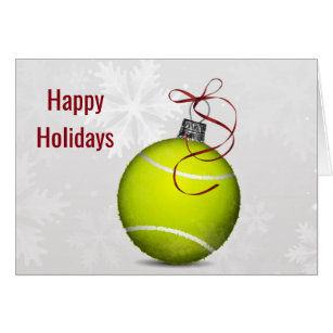Tennis holiday cards greeting photo cards zazzle tennis ball ornament holiday greetings card m4hsunfo Choice Image