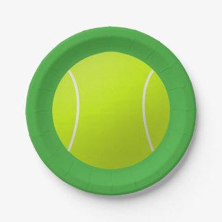 Tennis Ball Paper Plates