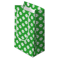 Tennis ball pattern Birthday party favor gift bags
