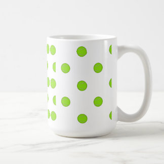 Tennis Ball Pattern: Classic White Coffee Mug