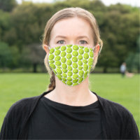 Tennis Ball Pattern Face Mask