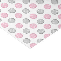 Tennis Ball Pattern Pink and Grey Tissue Paper
